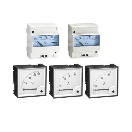 Ampèremètres, voltmètres et fréquencemètres analogiques pour la surveillance des circuits. schneider electric maroc prix casabla
